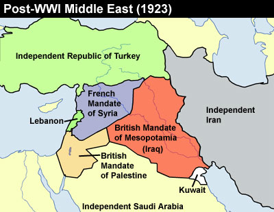 The Middle East in 1923