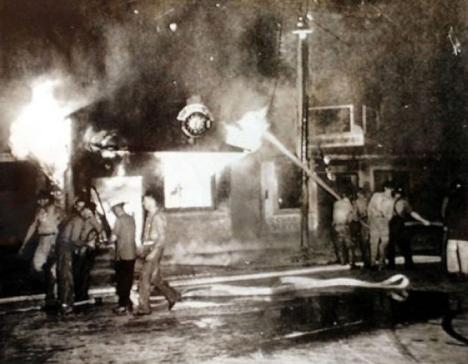 1943 - After a white woman claimed she had been raped by a black man in Beaumont, Texas, some 3000 whites rampaged nearby black neighborhoods,   destroying property  and attacking African-American citizens.   More than 100 black-owned homes were burned.