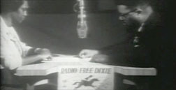 Rob and Mabel Williams in a recording studio in Havana, Cuba