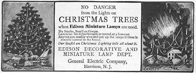 In  President Cleveland Requested That The White House Family Christmas Tree Be Illuminated By Hundreds Of Multi Colored Electric Light Bulbs