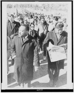 Dr. King and Rev. Ralph Abernathy on the Resumed March