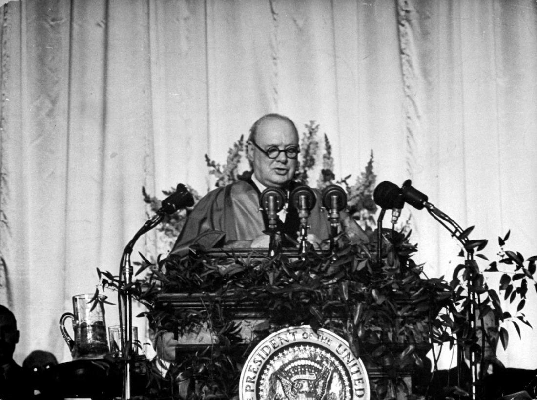 "March 5, 1946 – Winston Churchill Gives His ""Iron Curtain Speech ..."