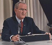 Pres. Johnson on March 31, 1968