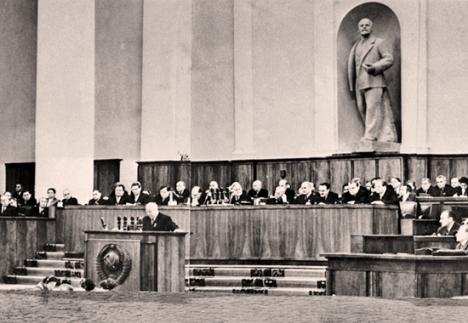 """Khrushchev's """"secret speech"""" in 1956"""