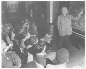 Einstein at Lincoln University in 1946
