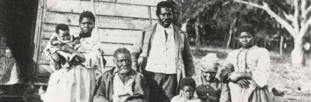 Five generations of an African American family in South Carolina, ca. 1862. (Gilder Lehrman Collection)