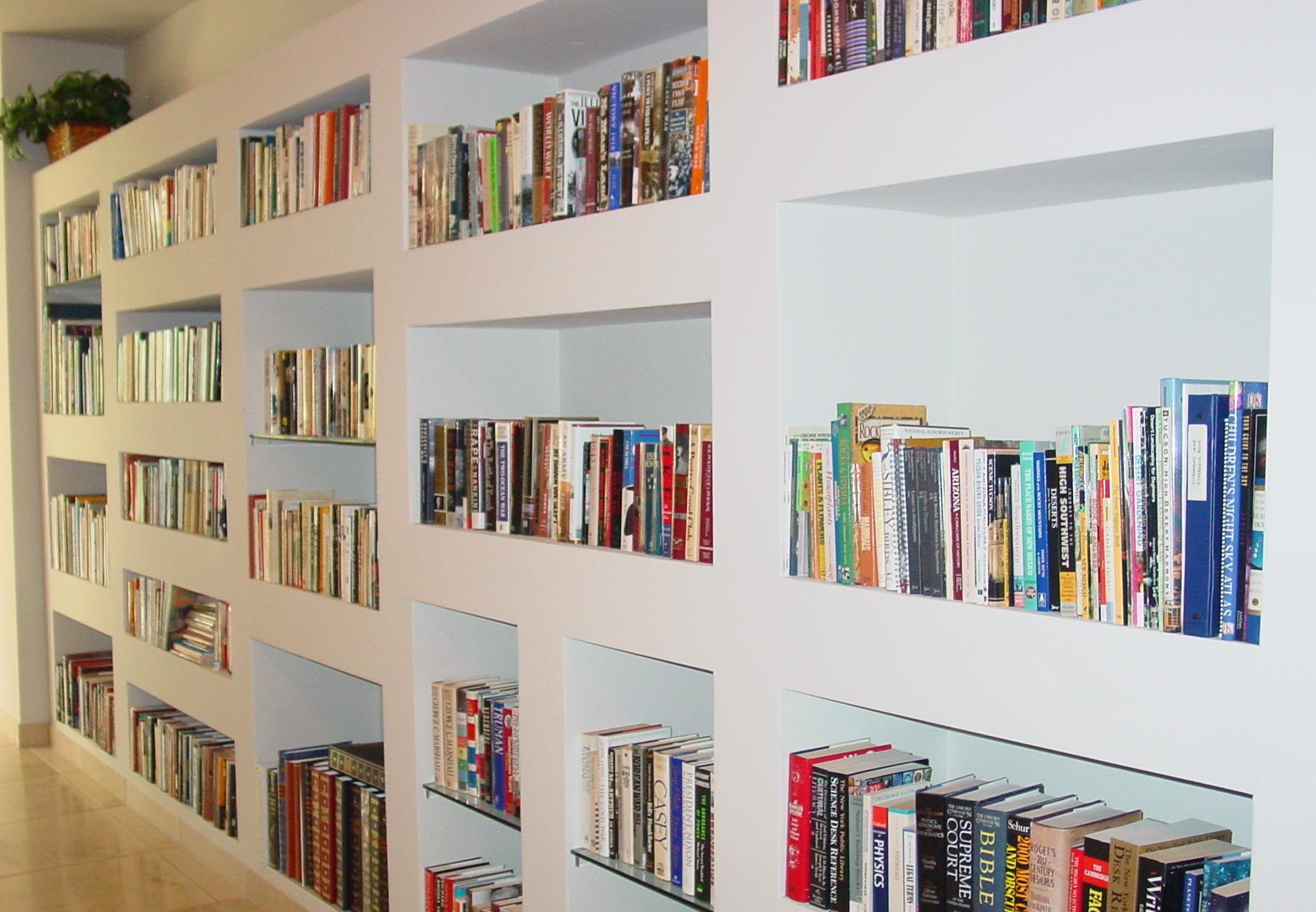 Built In Drywall Shelves Built In Bookcases Rhapsody In Books Weblog