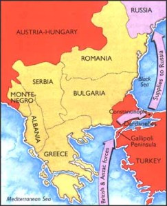 Map Showing Gallipoli's Important Strategic Position