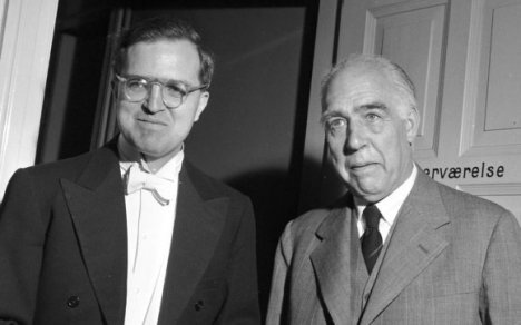 Niels Bohr (on the right) and his son Aage