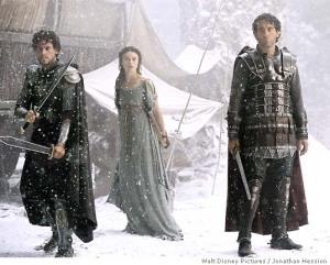 Lancelot, Guinevere, and Arthur