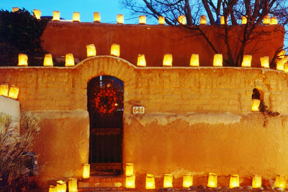 Image result for lighting of the luminaries in new mexico christmas eve