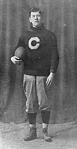 Jim Thorpe in Carlisle Indian Industrial School uniform, c. 1909