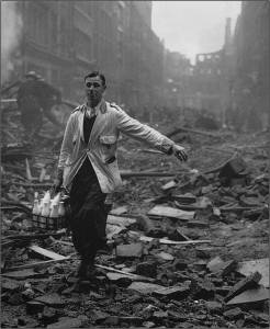 Milk delivery during the Blitz