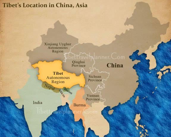 Tibet Location Map