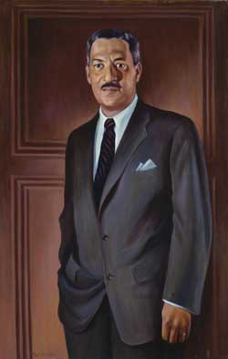 Thurgood Marshall as a young man