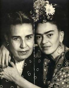 Frida Kahlo and the author's mother,  Guadalupe Marin, onetime wife of Diego Rivera (not included in the book)