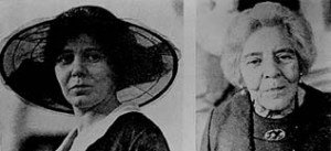 Alice Paul in 1917 and in the 1970s