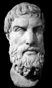 Roman marble bust of Epicurus, 341 BC - 270 BC