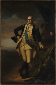 George Washington as painted by Charles Willson Peale probably between June and August of 1780