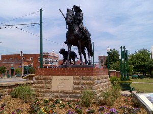 Arkansas' only historic equestrian statue honors Bass Reeves