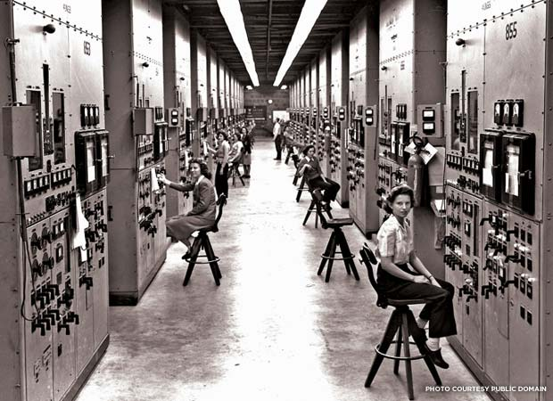 Calutron operators at the Y-12 plant in Oak Ridge, Tennessee