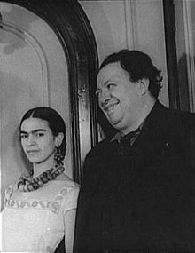 Frida Kahlo and Diego Rivera in 1932
