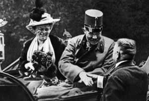 The assassination of Franz Ferdinand, heir to the Austro-Hungarian Empire (shown here with his wife Sophie, also killed), on June 28, 1914, is commonly thought to have been the trigger for WWI