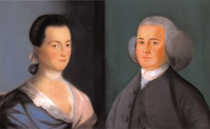 Good Genes:  Portrait of Abigail Adams, and Portrait of John Adams