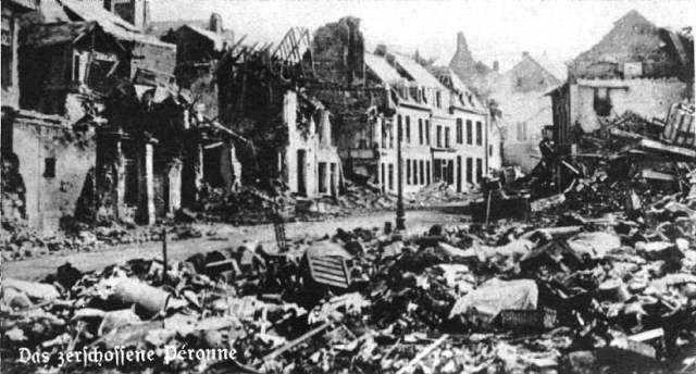 Péronne in northern France,during the Battle of the Somme, 1916