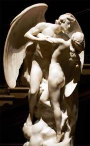 "1931 marble sculpture by Daniel Chester French entitled ""The sons of God saw the daughters of man that they were fair."""