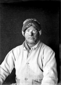 A portrait of of Apsley Cherry-Garrard after returning from his attempt to find the missing Captain Scott, January 1912