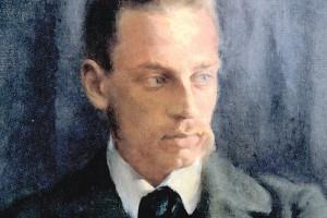 A 1902 portrait of poet Rainer Maria Rilke by Helmut Westhoff