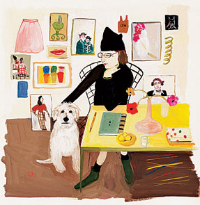 Maira Kalman, self-portrait