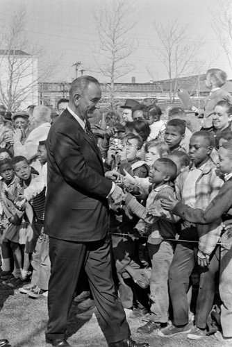 Vice President Lyndon B.Johnson in Wilmington, Del., in 1963, the year of his profound Memorial Day speech.