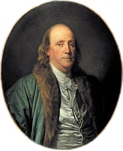 Portrait of Benjamin Franklin dated 1777