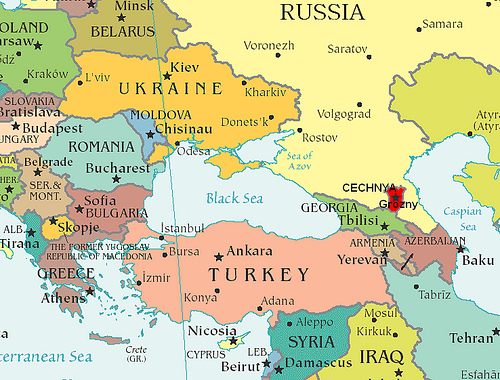 Where in the world is Chechnya?