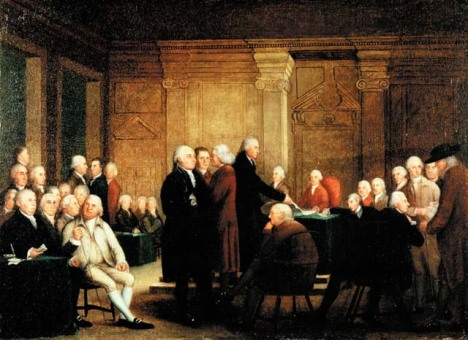 Congress Voting Independence, a depiction of the Second Continental Congress voting on the United States Declaration of Independence
