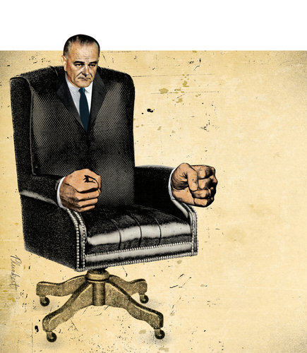 LBJ by David Plunkert for the New York Times, May 6, 2012