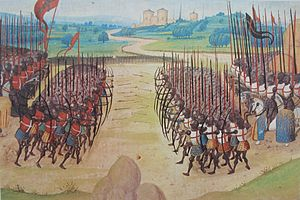 The Battle of Agincourt, 15th-century miniature
