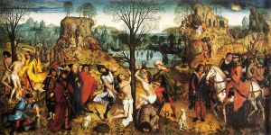 Martyrdom of Saints Crispin and Crispinian by Bossche, 1494