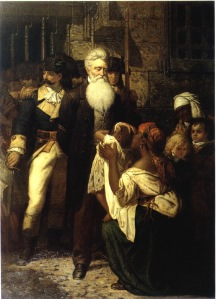 John Brown's Blessing,1867, by Thomas Satterwhite Noble, New-York Historical Society