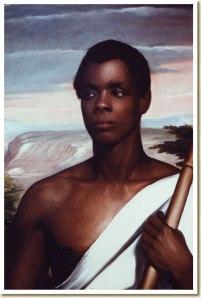 Oil portrait circa 1840 of Joseph Cinque, leader of the Amistad captives