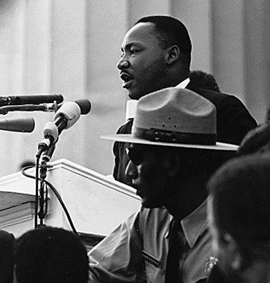 "Dr. King delivering his ""I Have A Dream"" speech"