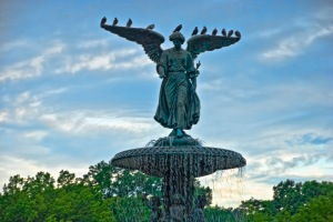 Angel of the Waters (Bethesda Fountain), Central Park, New York City.