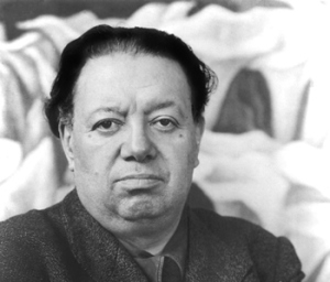 "Diego Rivera, who wrote that ""If the artist can't feel everything that humanity feels, if the artist isn't capable of loving until he forgets himself and sacrifices himself if necessary, if he won't put down his magic brush and head the fight against the oppressor, then he isn't a great artist."""