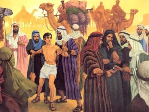 Joseph being sold into Egypt by his brothers, in one of the many Biblical stories about sibling rivalry