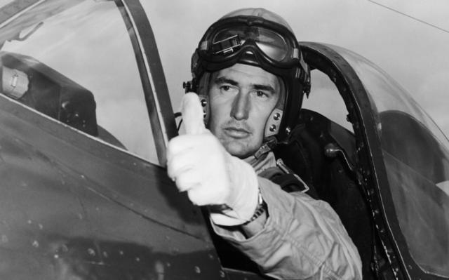 Ted Williams during the Korean War (ESPN photo)