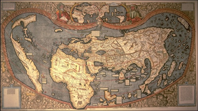 The 1507 Martin Waldseemüller Map of the known world.  In 2003 the Library of Congress paid $10 million to acquire the only surviving copy.