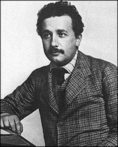 Albert Einstein as a very smart clerk in Bern, Switzerland, 1905