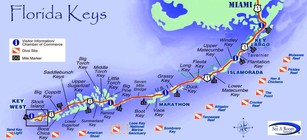 Map Of Keys florida keys map | Rhapsody in Books Weblog